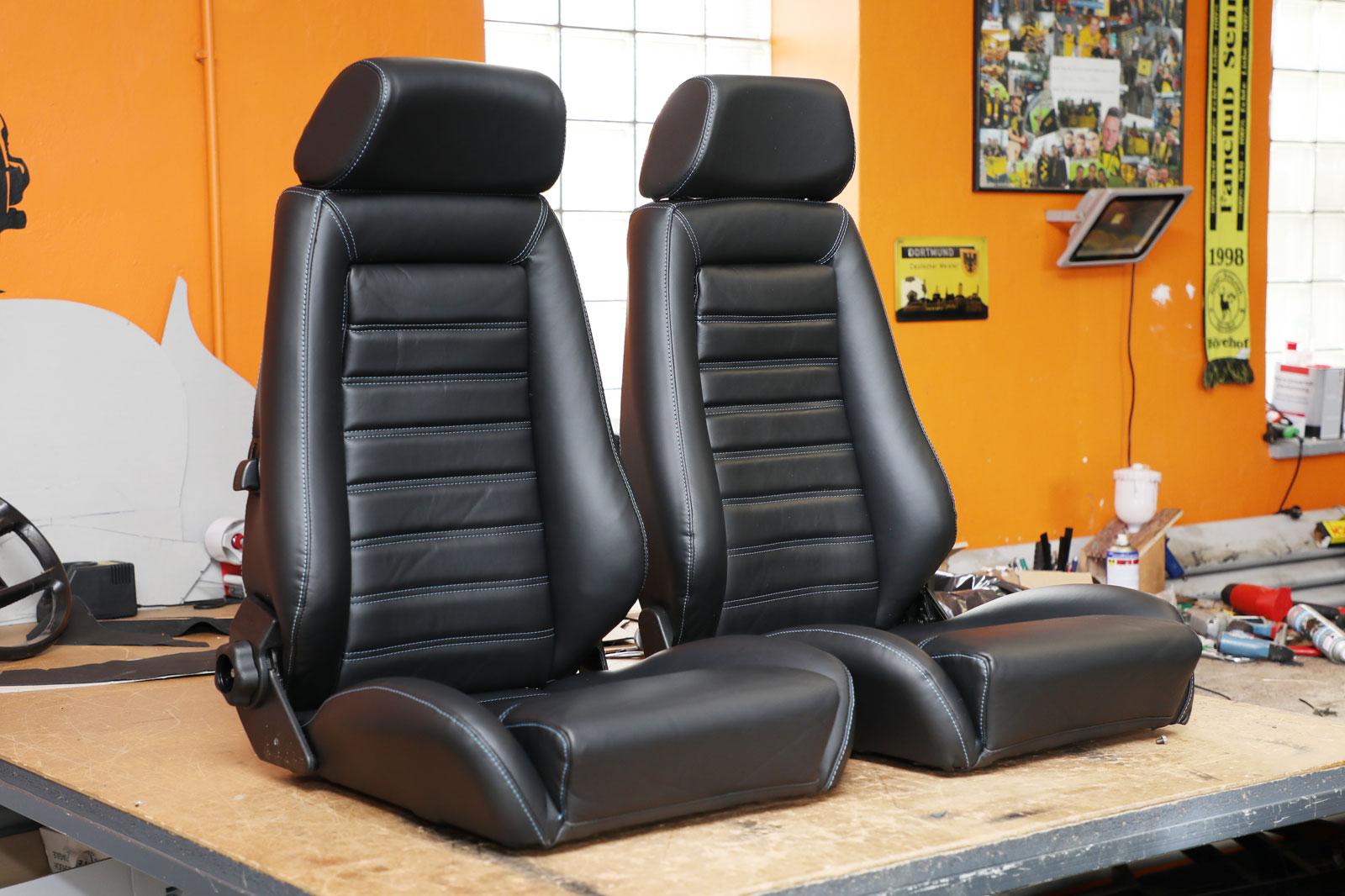 Sattlerei K.M. Lederdesign Recaro Sitze Seite Sattlerei Autositze beziehen