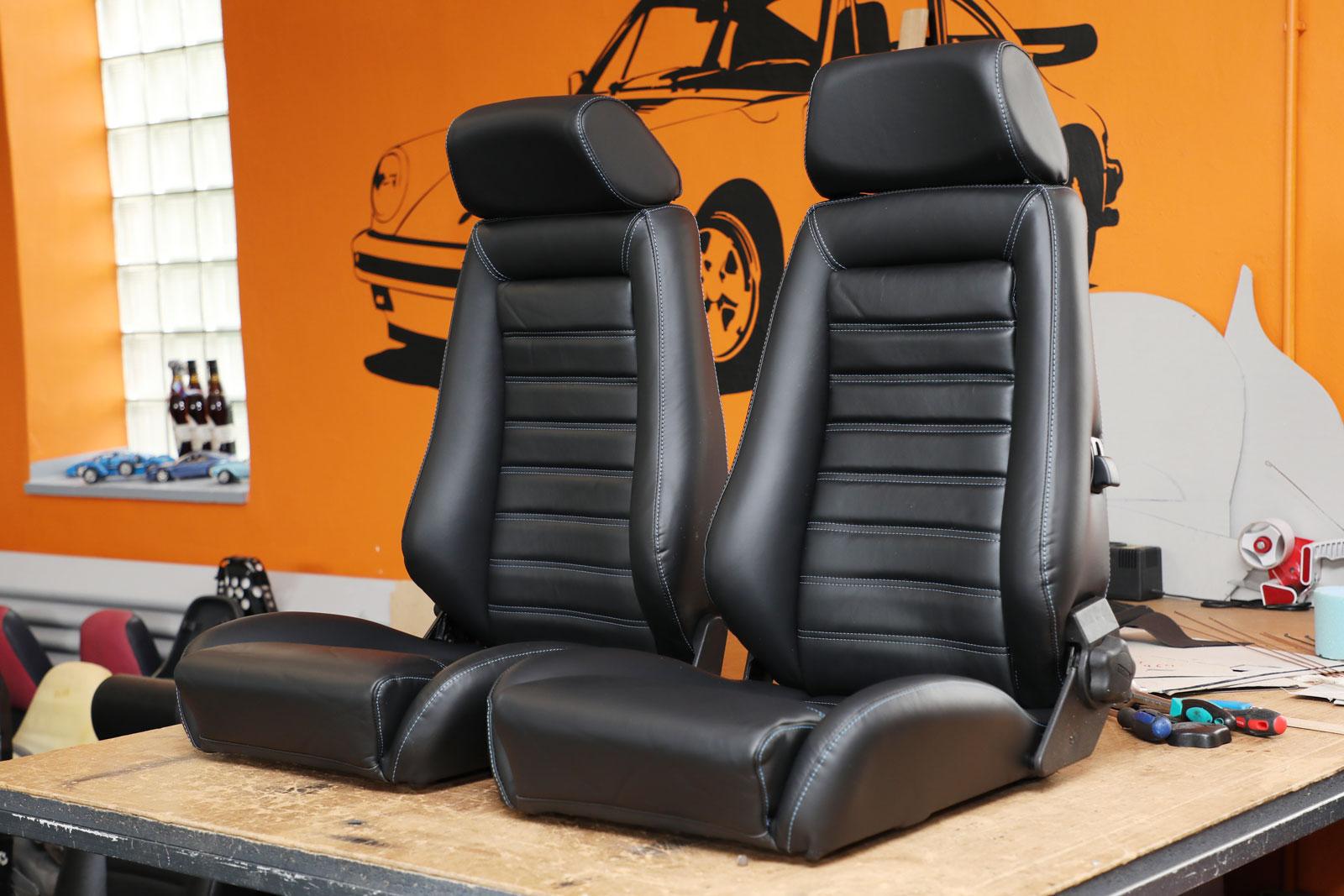 Sattlerei K.M. Lederdesign Recaro Sitze Sattlerei Autositze beziehen