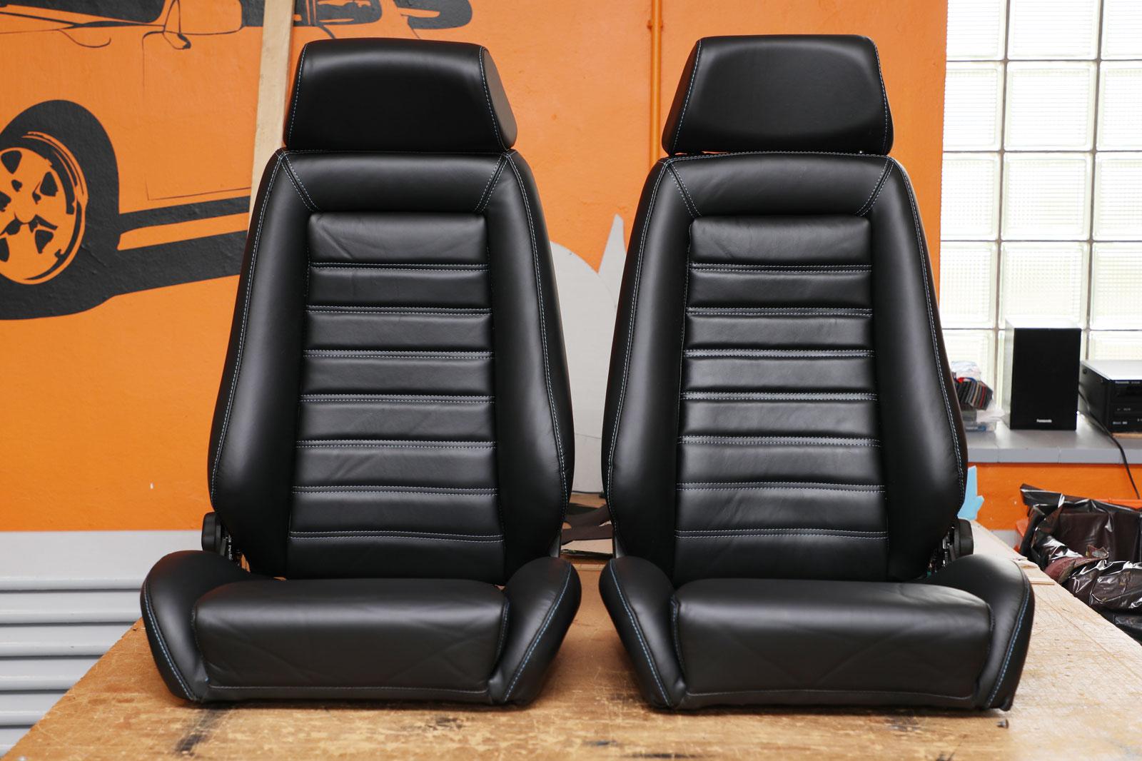 Sattlerei K.M. Lederdesign Recaro Sitze vorn Sattlerei Autositze beziehen